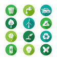 go green icons vector image
