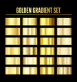 golden metal realistic gradient collection of vector image vector image
