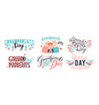 grandparents day lettering different hand drawn vector image vector image