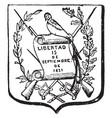 guatemalan coat of arms have bird and bayonet vector image vector image