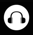 headphones icon design vector image vector image