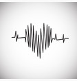 heart rate on white background vector image vector image