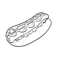 hot dog coloring book vector image