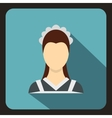 Maid icon in flat style vector image