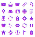 mail gradient icons on white background vector image