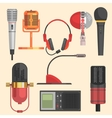 Microphone Set vector image vector image