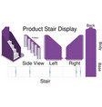 mock up product stair dispaly with dieline vector image