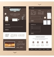 modern one page website template design with vector image vector image