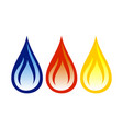 oil gas flame abstract symbol design vector image vector image