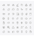 outline breakfast icons vector image vector image