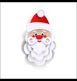 paper cut santa claus christmas decoration element vector image