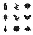 paper frippery icons set simple style vector image vector image