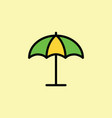 parasol umbrella icon thin line vector image