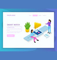 people and interfaces isometric composition vector image vector image