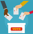 people at ballot box background flat style vector image