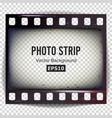photo strip realistic empty frame strip vector image