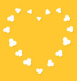 popcorn flying heart shape frame cinema movie vector image vector image