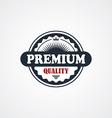 premium signature label theme vector image vector image