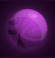 purple planet icon cartoon style vector image