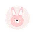 rabbit hand drawn face character vector image vector image