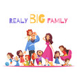 realy big family vector image vector image