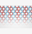 red blue squares abstract tech pattern background vector image