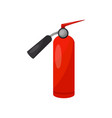 red fire extinguisher equipment of firefighter vector image vector image