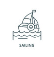 sailing line icon linear concept outline vector image vector image