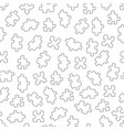 seamless pattern with puzzles square vector image