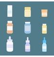 set meds icons medicine vector image vector image