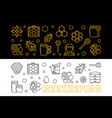 set of 2 beekeeping outline horizontal vector image vector image