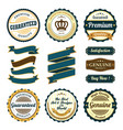 set of badges and ribbons vector image vector image