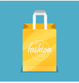 shopping bag flat icon vector image vector image
