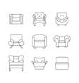 Sofa Outline Set vector image vector image