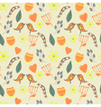 spring lovely seamless pattern with flowers vector image