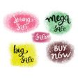 spring sale hand-drawn lettering set of special vector image