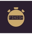 The finish stopwatch icon Clock and watch timer