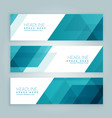 three business style set of web banners in blue vector image vector image