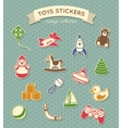 Toys stickers vintage collection vector image vector image