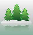 Trees and snow vector image