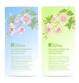 Two sakura banners vector image vector image