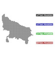 uttar pradesh state map in dot style with grunge vector image vector image