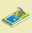 water play park composition vector image vector image