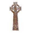 wooden celtic cross vector image