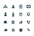 company icons set vector image