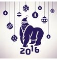 2016 year monkey symbol vector image