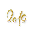 2019 gold lettering vector image vector image