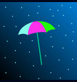a colored umbrella on a blue background vector image
