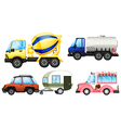 A set of cars vector image vector image