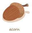 acorn icon isometric 3d style vector image vector image